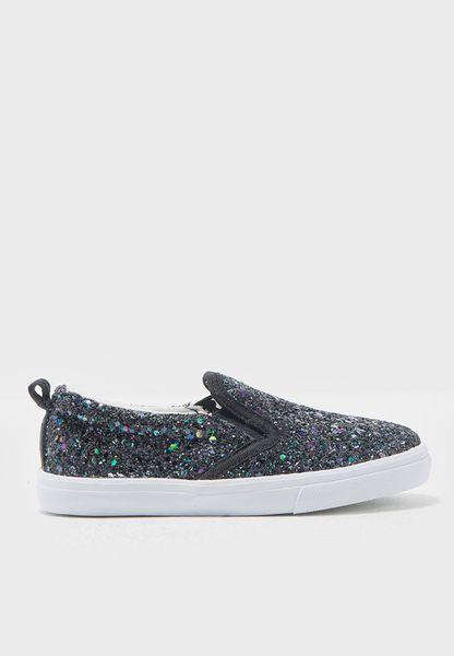 Little Glitter Slip Ons
