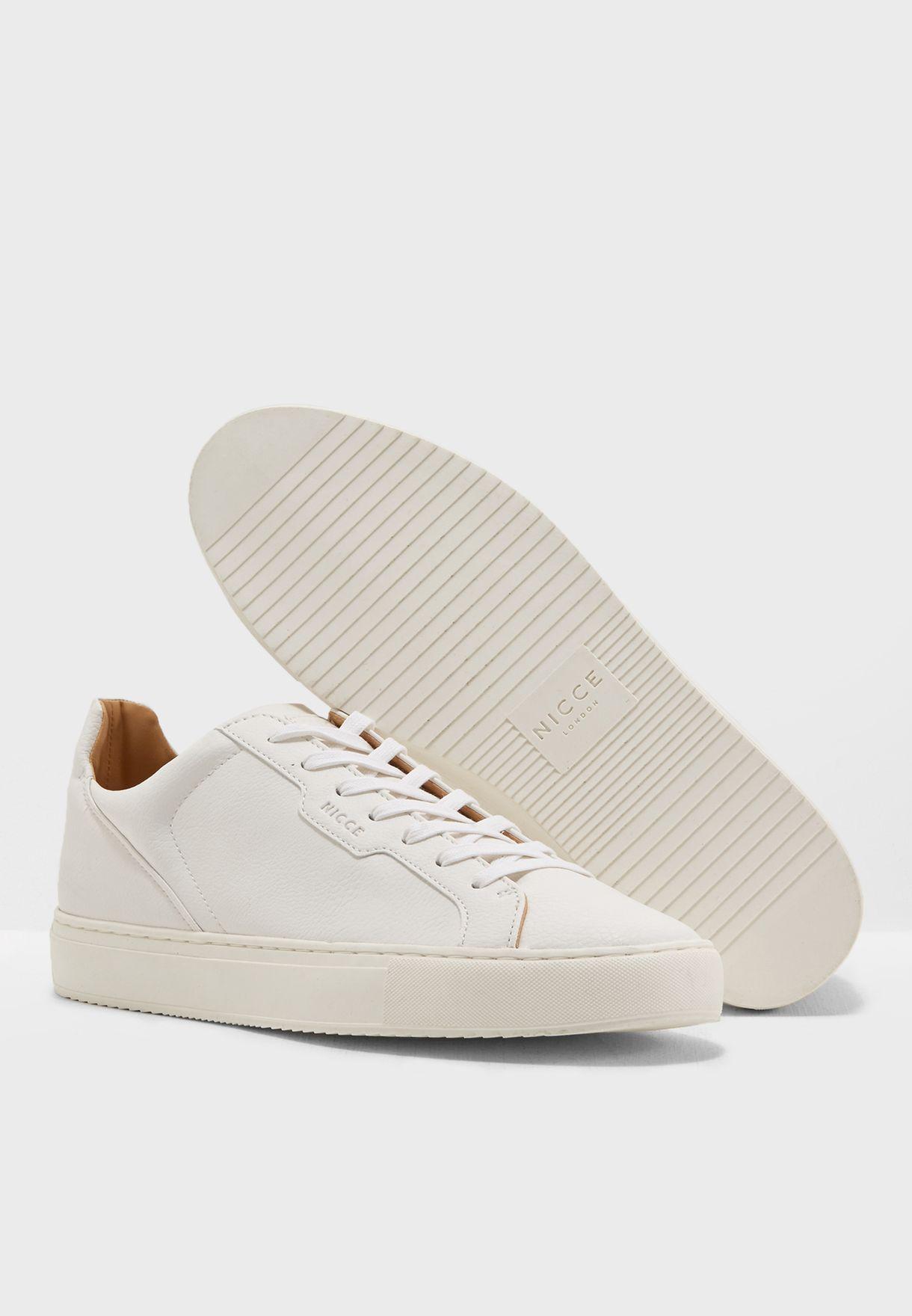 Buy Nicce London white Lamgham Sneakers