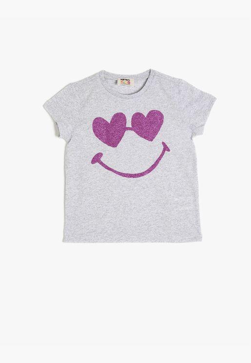 Shimmer Detailed T-Shirt