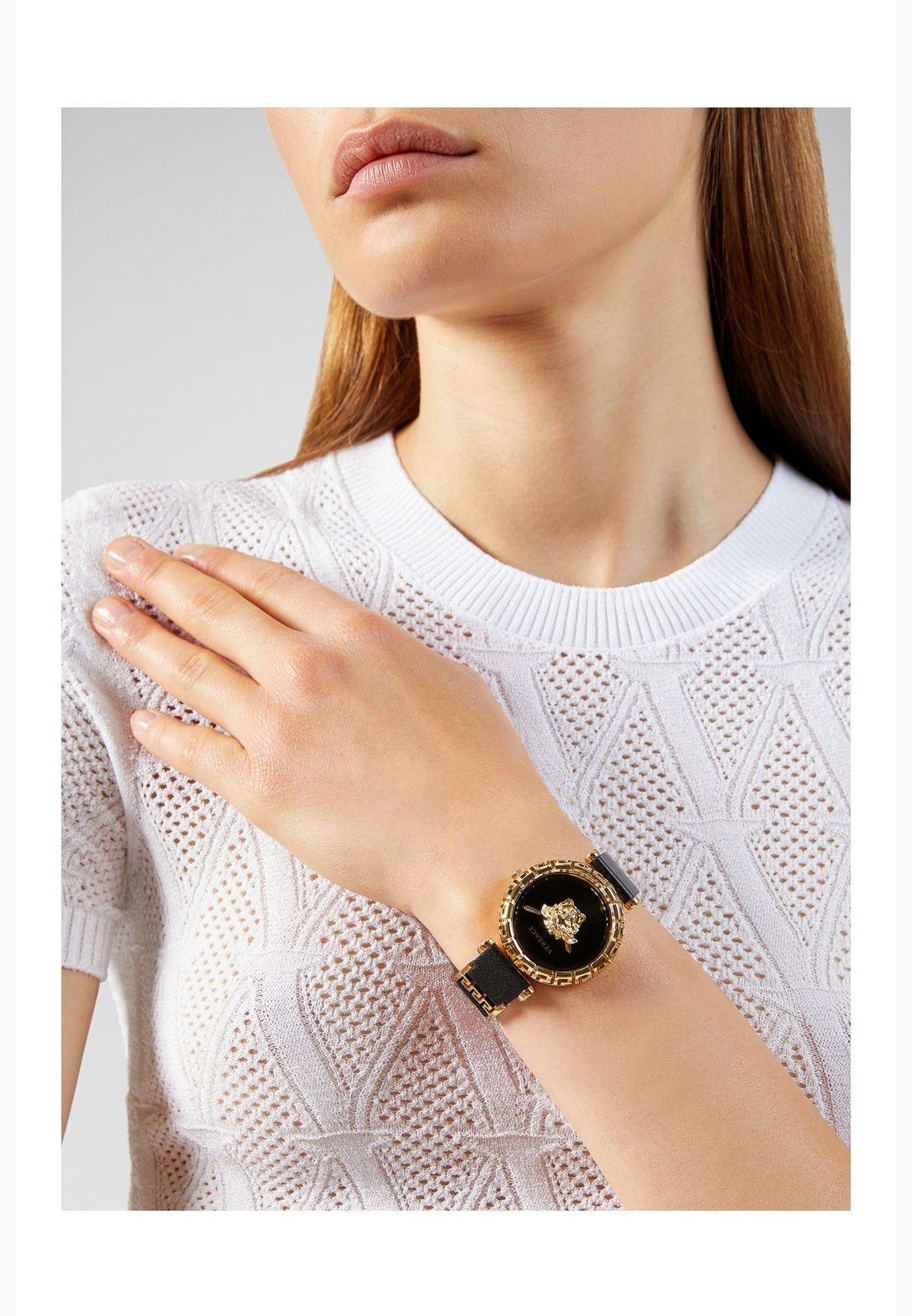 Versace GRECA Leather Strap Watch for Women - VEDV00119
