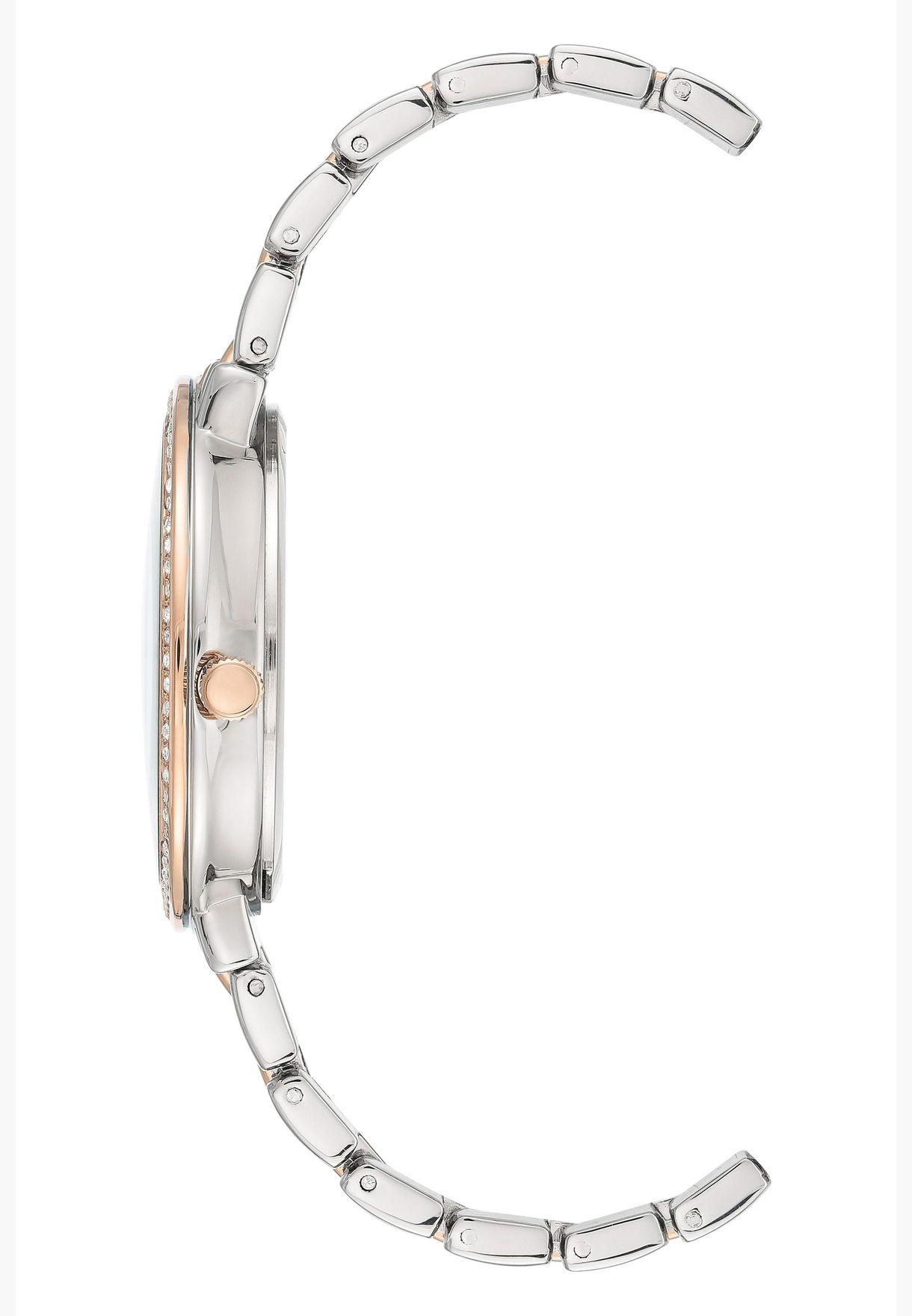 Anne Klein Metal Steel Strap Watch for Female - AK3799MPRT