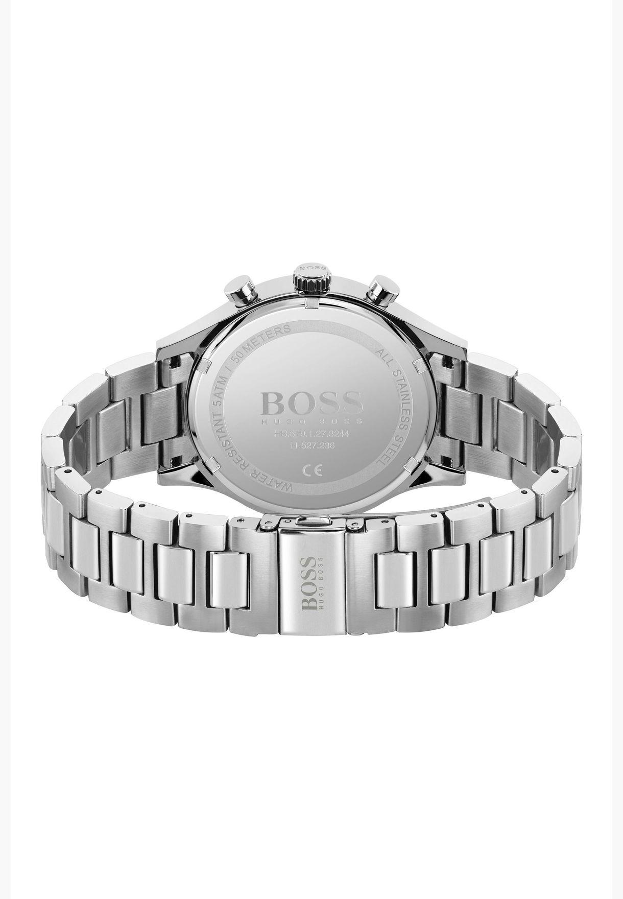 هوغو بوس ساعة ميترونوم من الستانلس ستيل للرجال - 1513801
