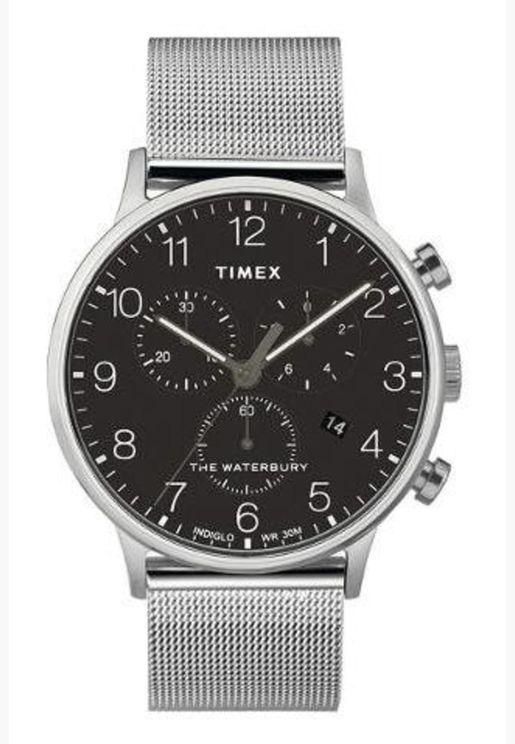 ساعة تيميكس ووتربيري للرجال بسوار شبكي - TW2T36600