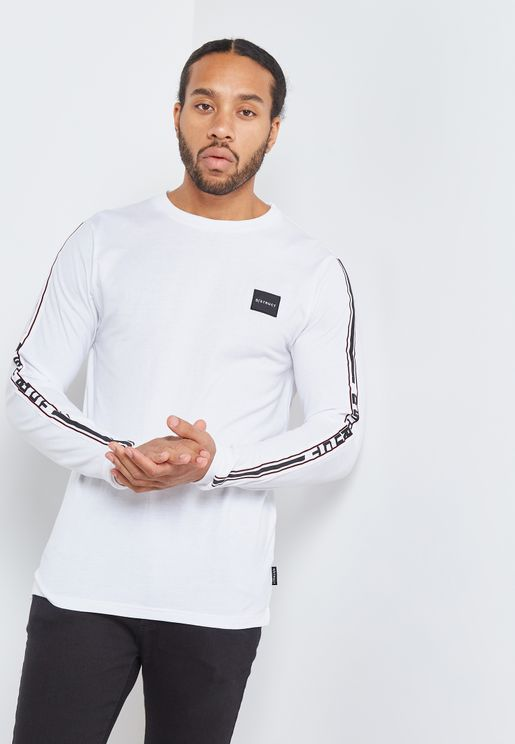 Anzio Taped Sleeve Crew Neck T-Shirt