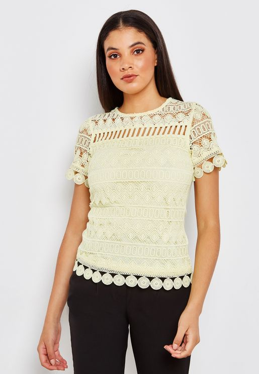Broidery Detail Top