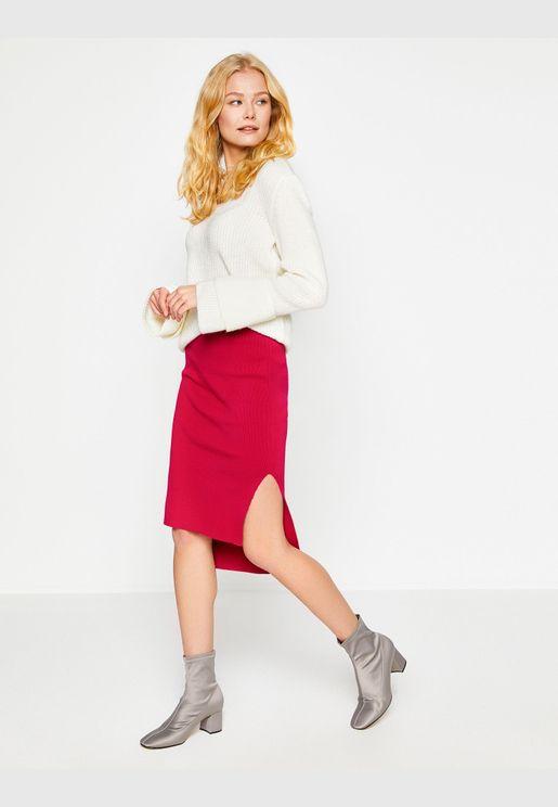 Slit Detailed Skirt
