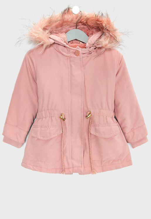 Infant Fur Trim Coat