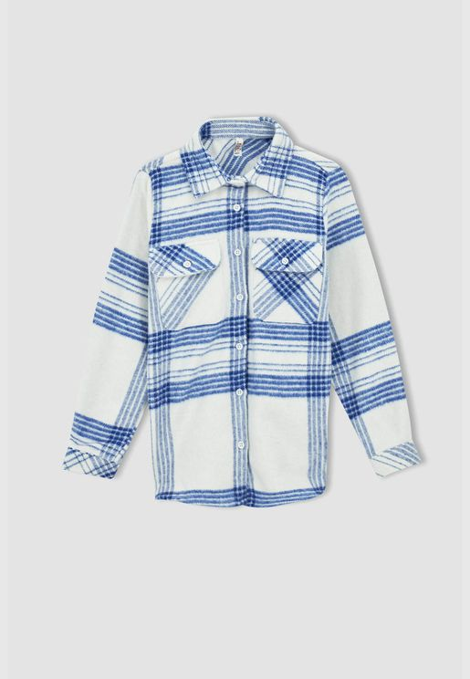 Girl Oversize Fit Long Sleeve Shirt