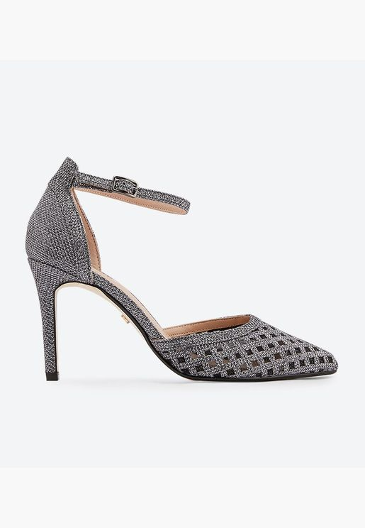 Dolli Di Mesh Two Part High Heel Pumps - Grey
