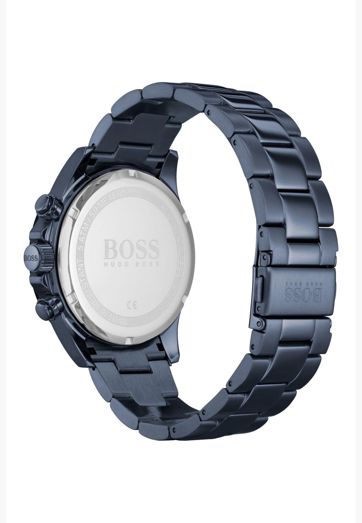 هيوغو بوس ساعة هيرو بسوار فولاذي للرجال - 1513758