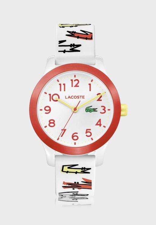 ساعة لاكوست L12.12 للأولاد بسوار سيليكون - 2030018