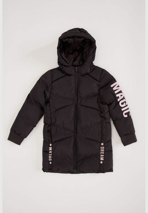 Girl Regular Fit Coat Parka