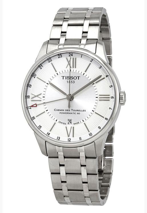 ساعة تيسو شيمين دي توريل بسوار فولاذي - T099.429.11.038.00