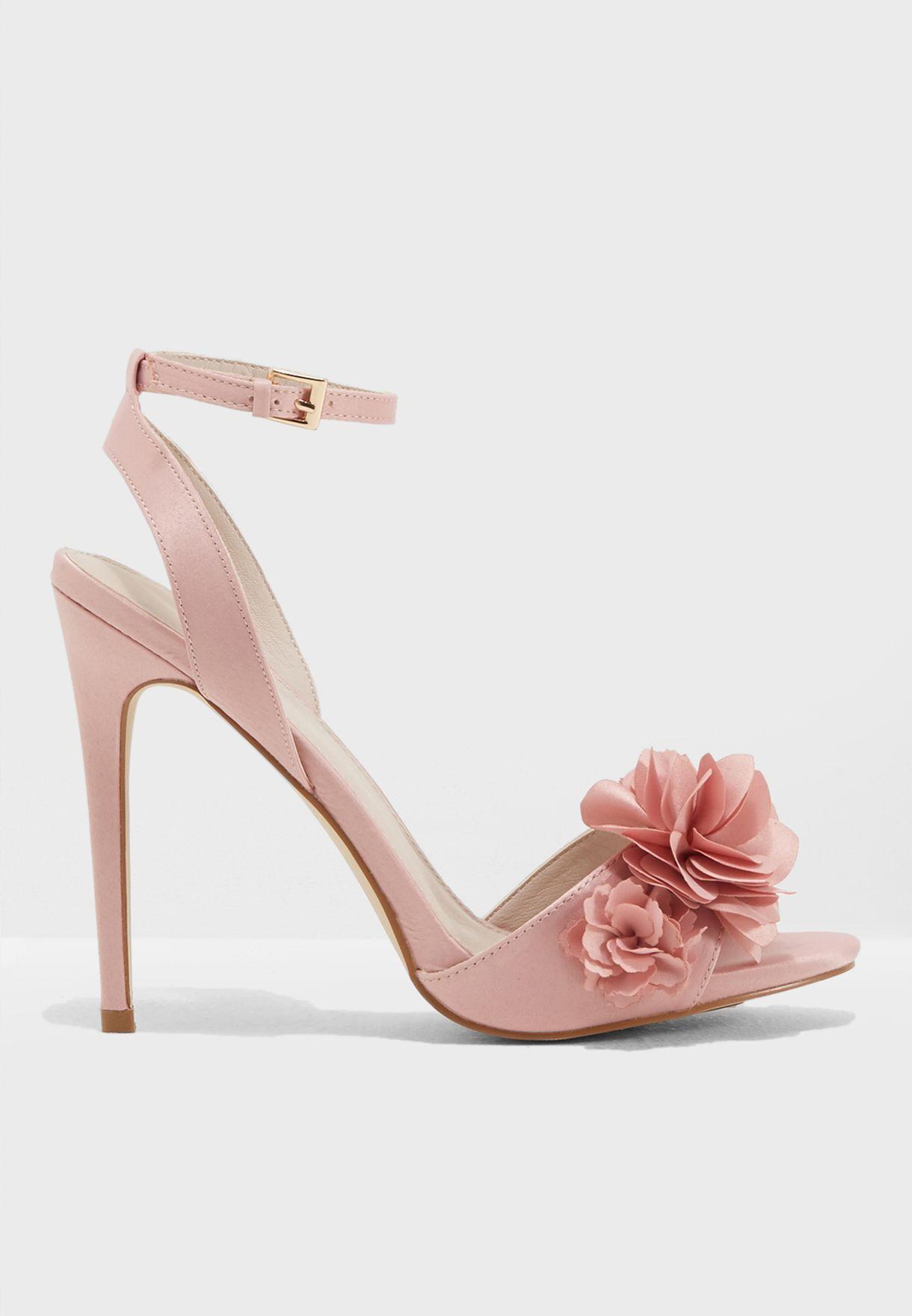 Shop Forever New Pink Violet Flower Vamp Heels Se3516 For Women In