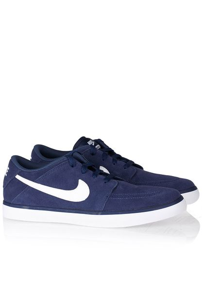 Comfortable Nike Suketo 2 Leather Men Navy Low-Top Sneakers
