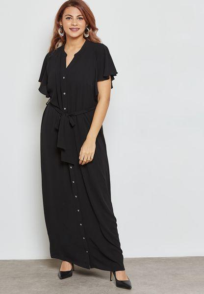 فستان بأربطة