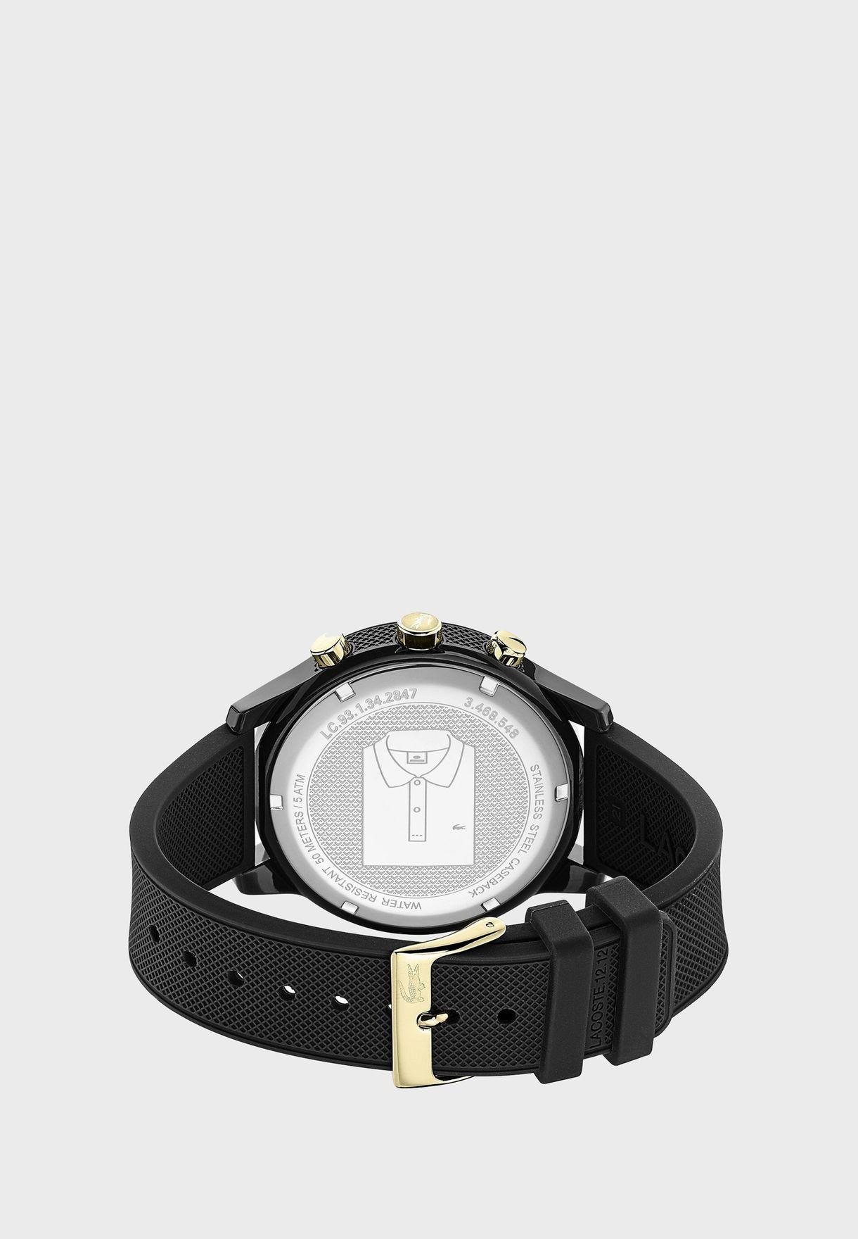 ساعة لاكوست L12.12 بسوار سيليكون للرجال - 2011012