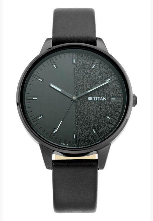ساعة تيتان للسيدات نيو في جلد للنساء - T2648NL01