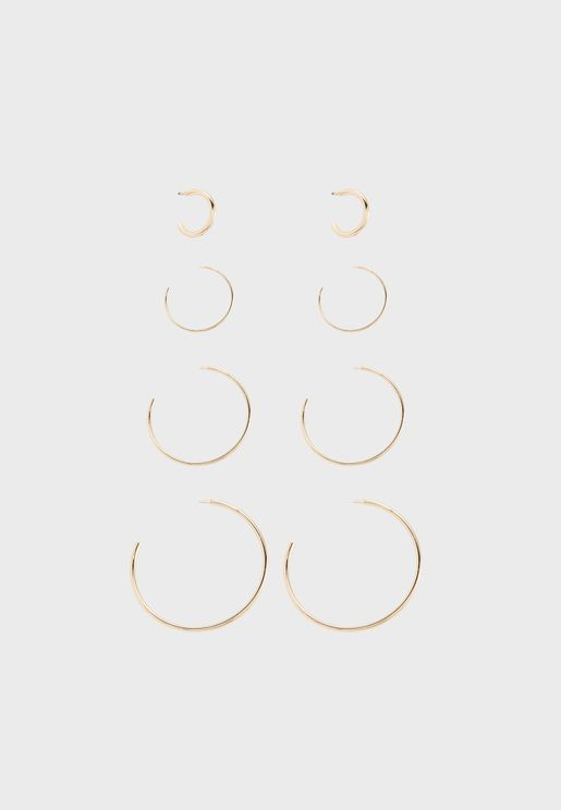 Multipack Paxa Hoop Earrings