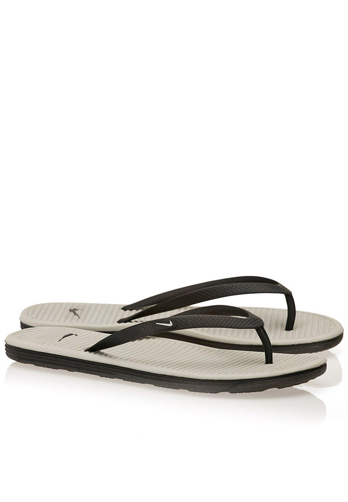 c1067c12df20 Shop Nike grey Solarsoft Thong II Flip Flops 488161-090 for Women in ...