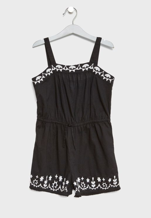 Teen Embroidered Playsuit