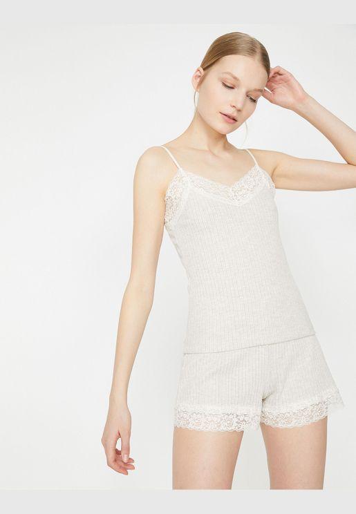Lace Detailed Pyjama Bottom