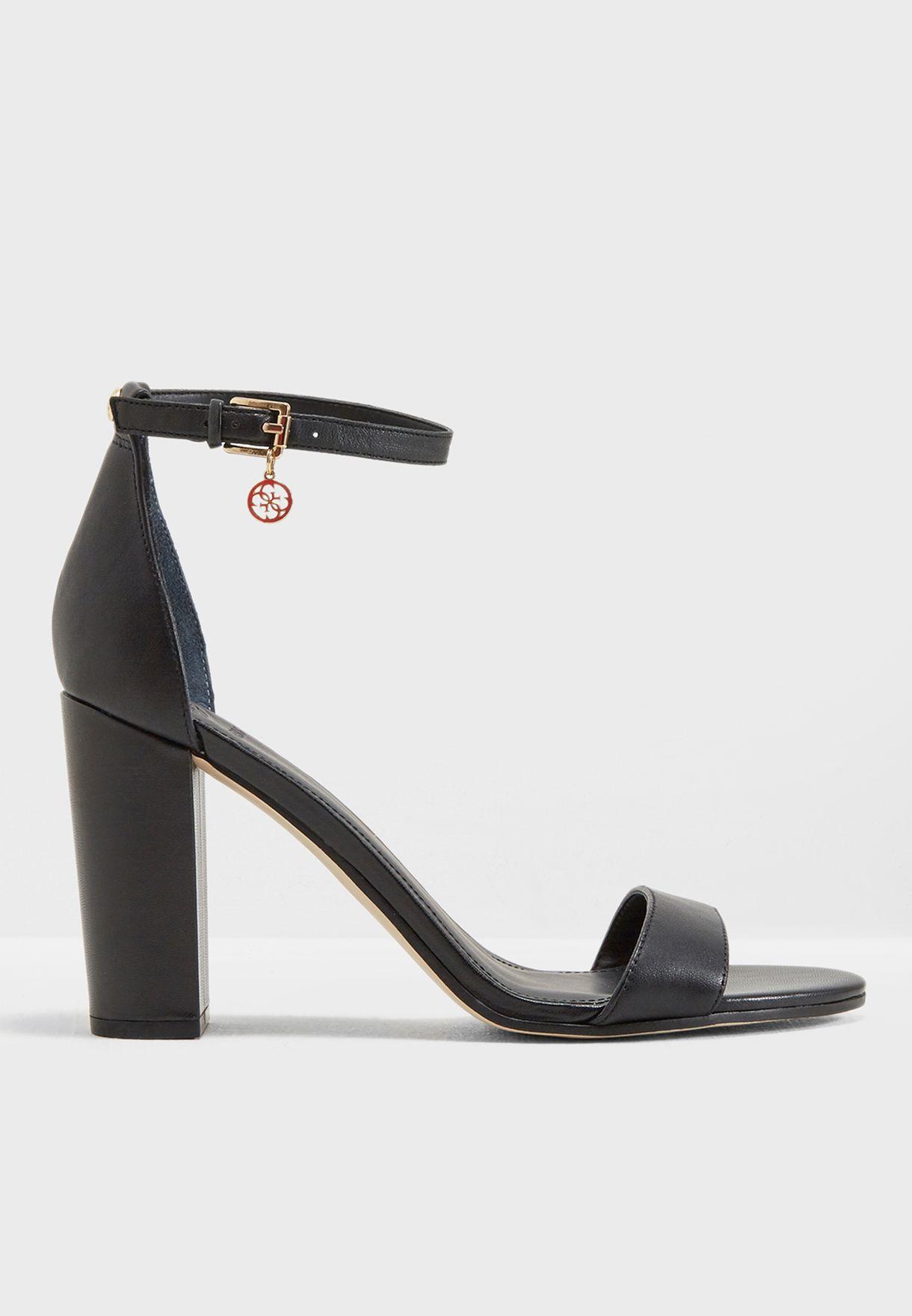 334c2f07202 Shop Guess black Block Heel Sandal gwBAMBOO for Women in Qatar -  GU094SH48YZF