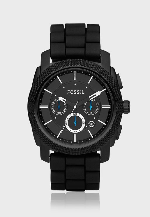 Machine Black Silicone Watch