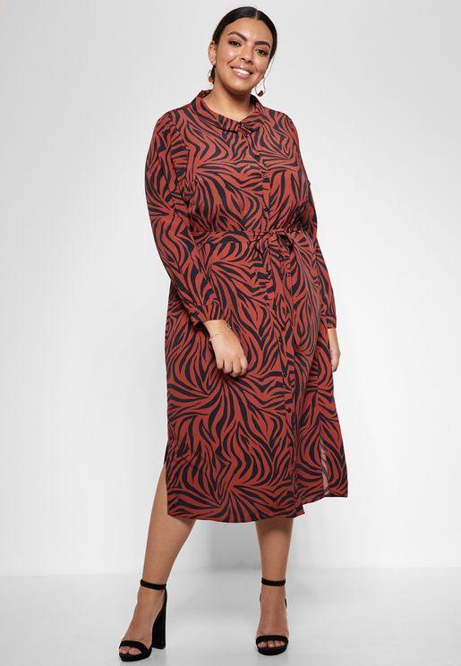 فستان كاجوال بطبعات