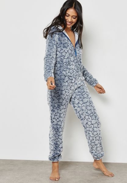 Owl Hooded Printed Onesie