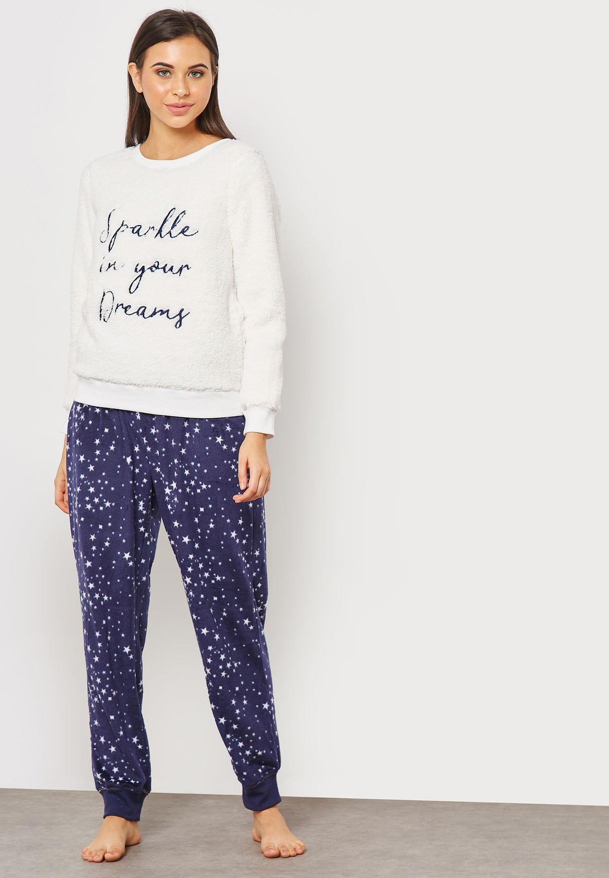 7eccffb3f2a6c Shop Dorothy Perkins white Star Print Pyjama Set 33137333 for Women ...