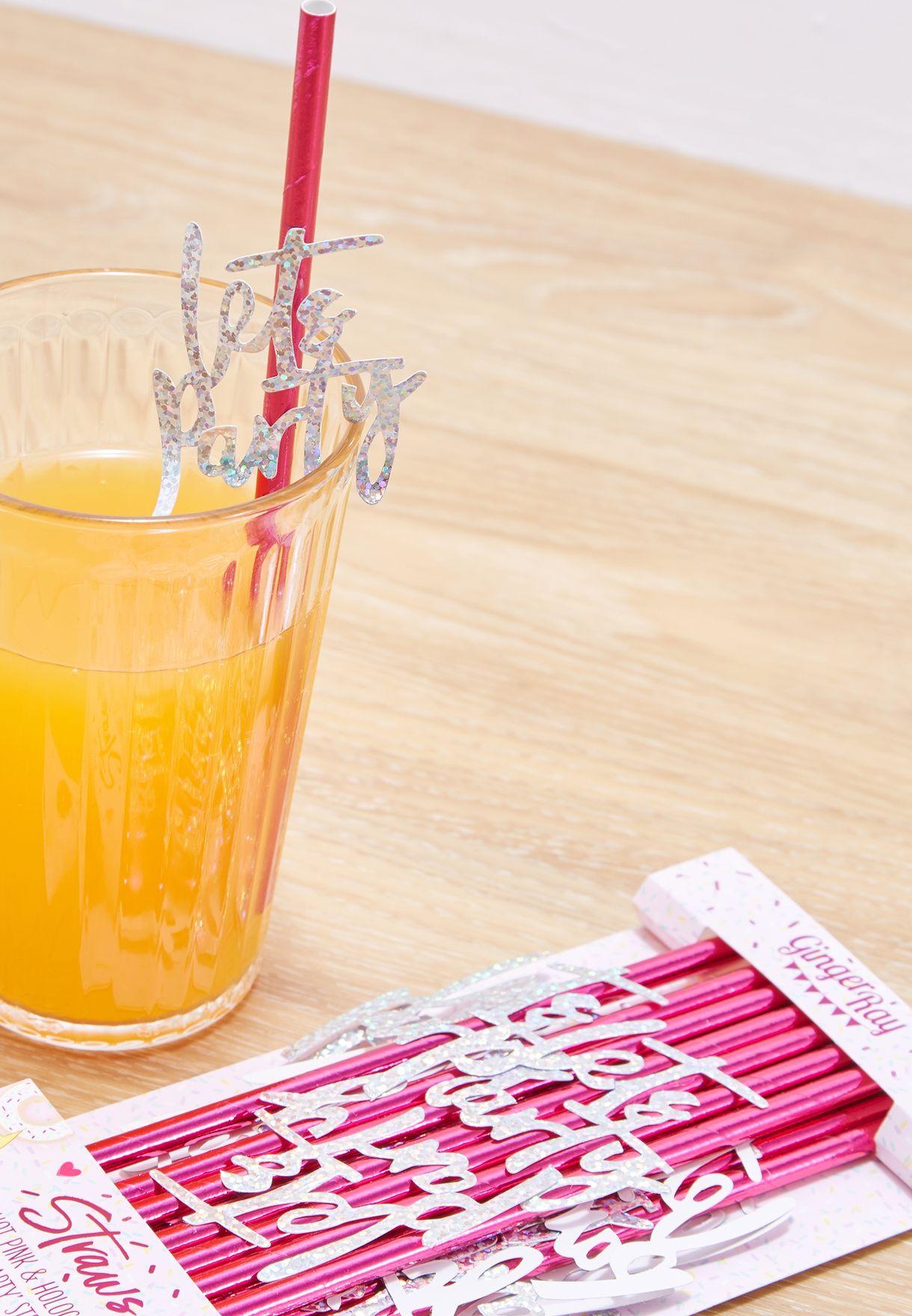 مجموعة من 16 شفاط للشرب