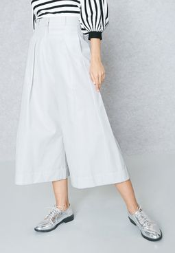 Pleat Detail Culottes