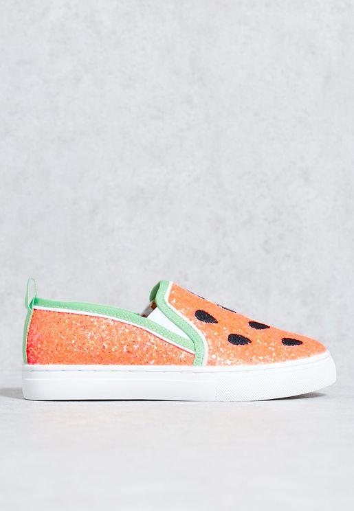 Melon Slip Ons