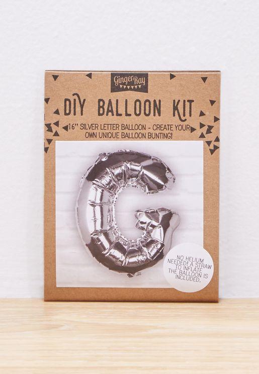 G Initial Foil Balloon