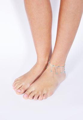 Ginger Stone Drop Anklet