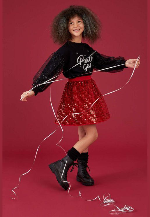 Girl Knitted Skirt
