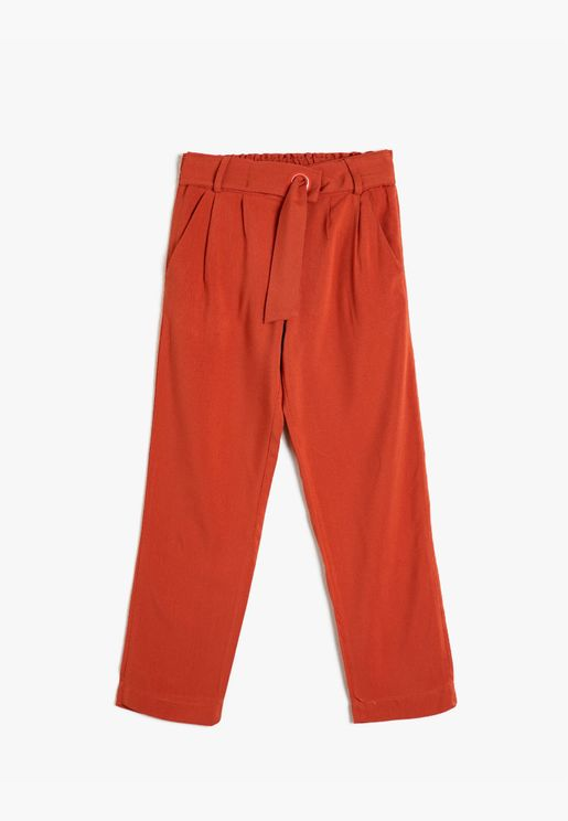 Pocketed Belted Trousers