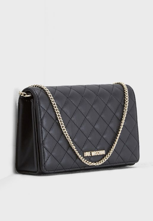Quilted Chained Crossbody
