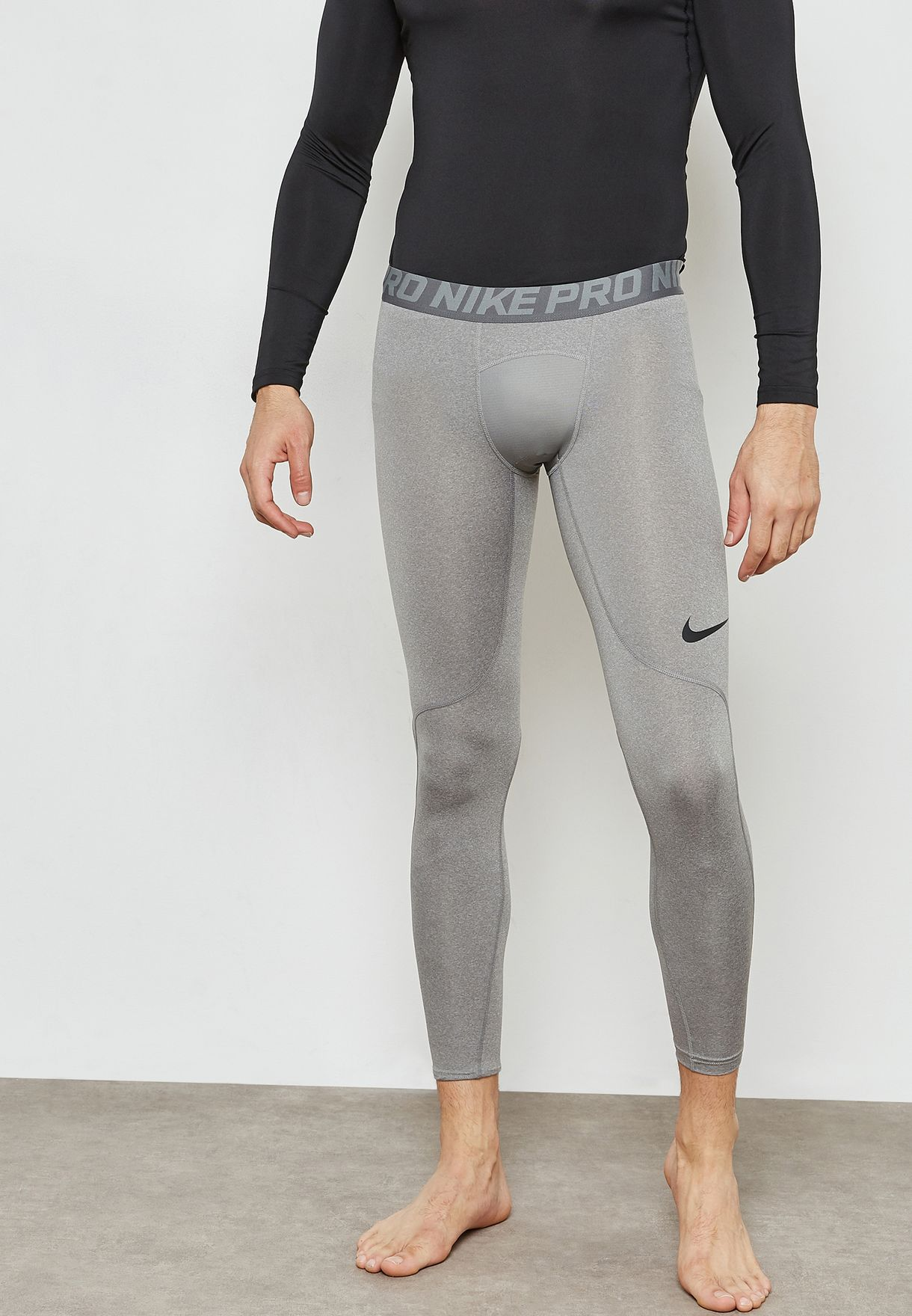 d9201f4bc9c03 Shop Nike grey Pro Tights 838067-091 for Men in Saudi - NI727AT48QDN