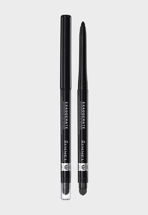Exaggerate Waterproof Eye Definer- 262 Blackest Black