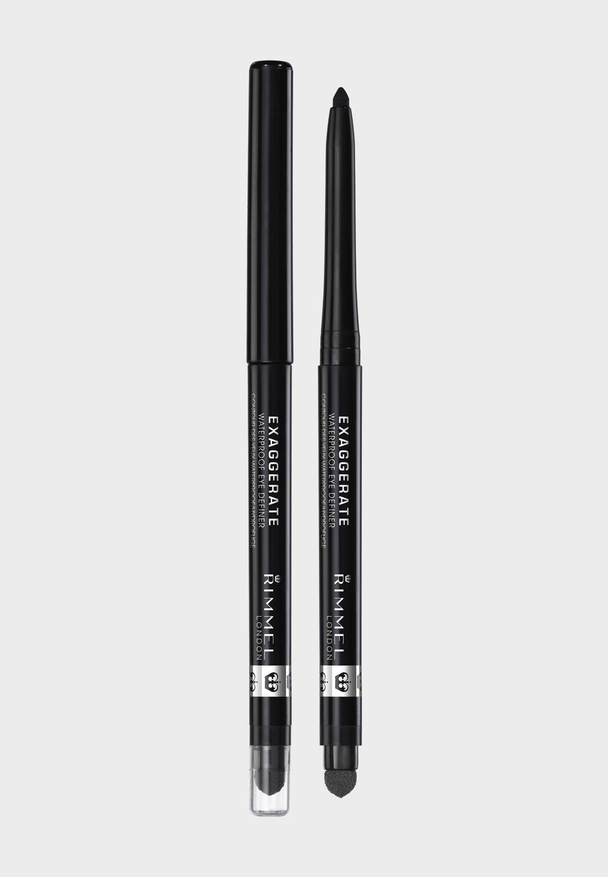 Exaggerate Waterproof Eye Definer- 262 Blackest Black