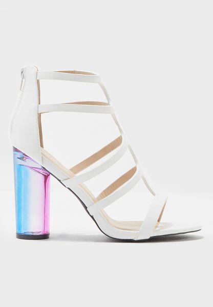 Gladiator Rainbow Ombre Heel Sandals