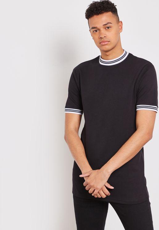 Hugo Ribbed  Crew Neck T-Shirt