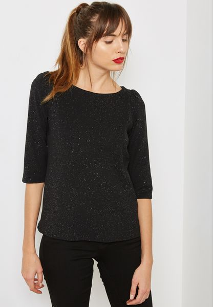 Glitter Puff Sleeve Top