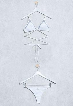 Triangle Mesh Detail Bikini Set