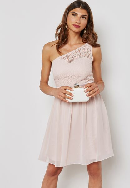 One Shoulder Lace Prom Dress