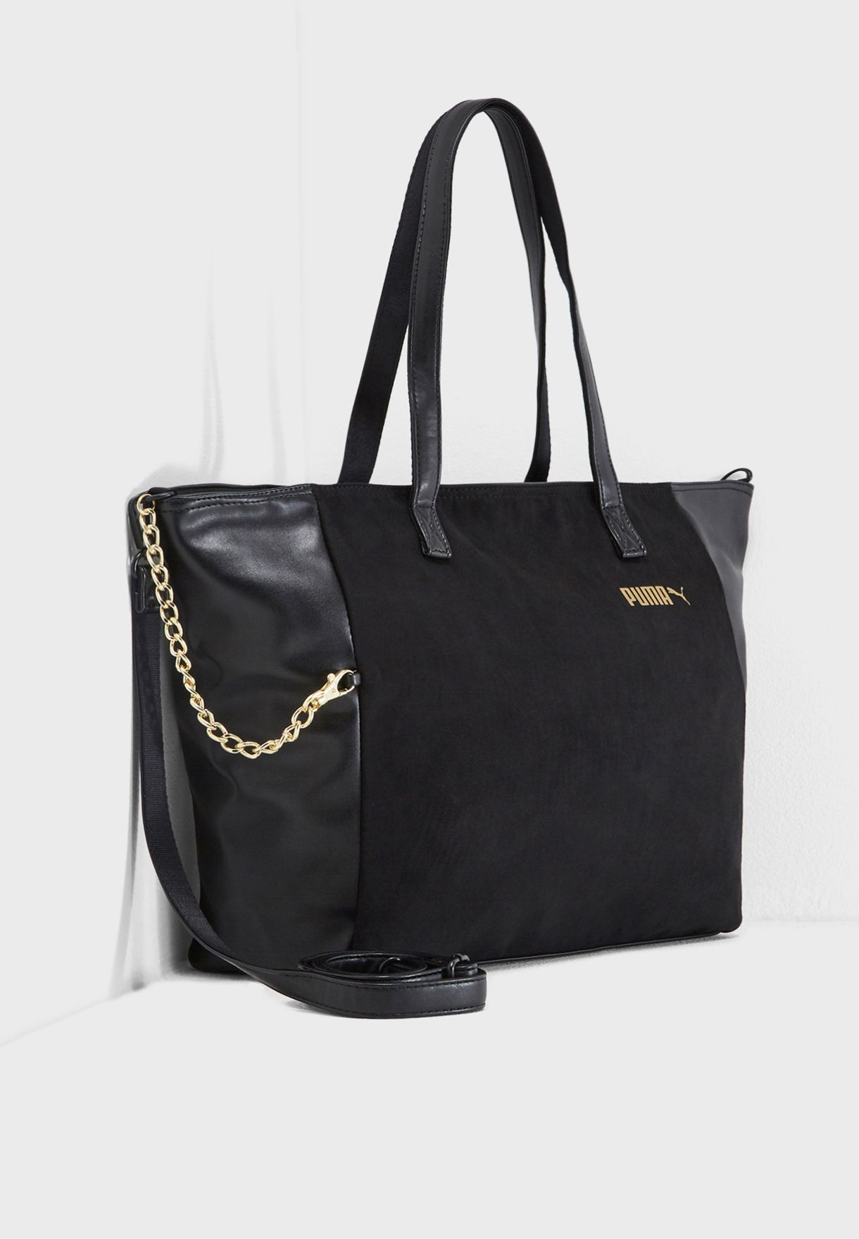 4ca894bc0b72 Shop PUMA black Large Prime Premium Shopper 7541501 for Women in ...