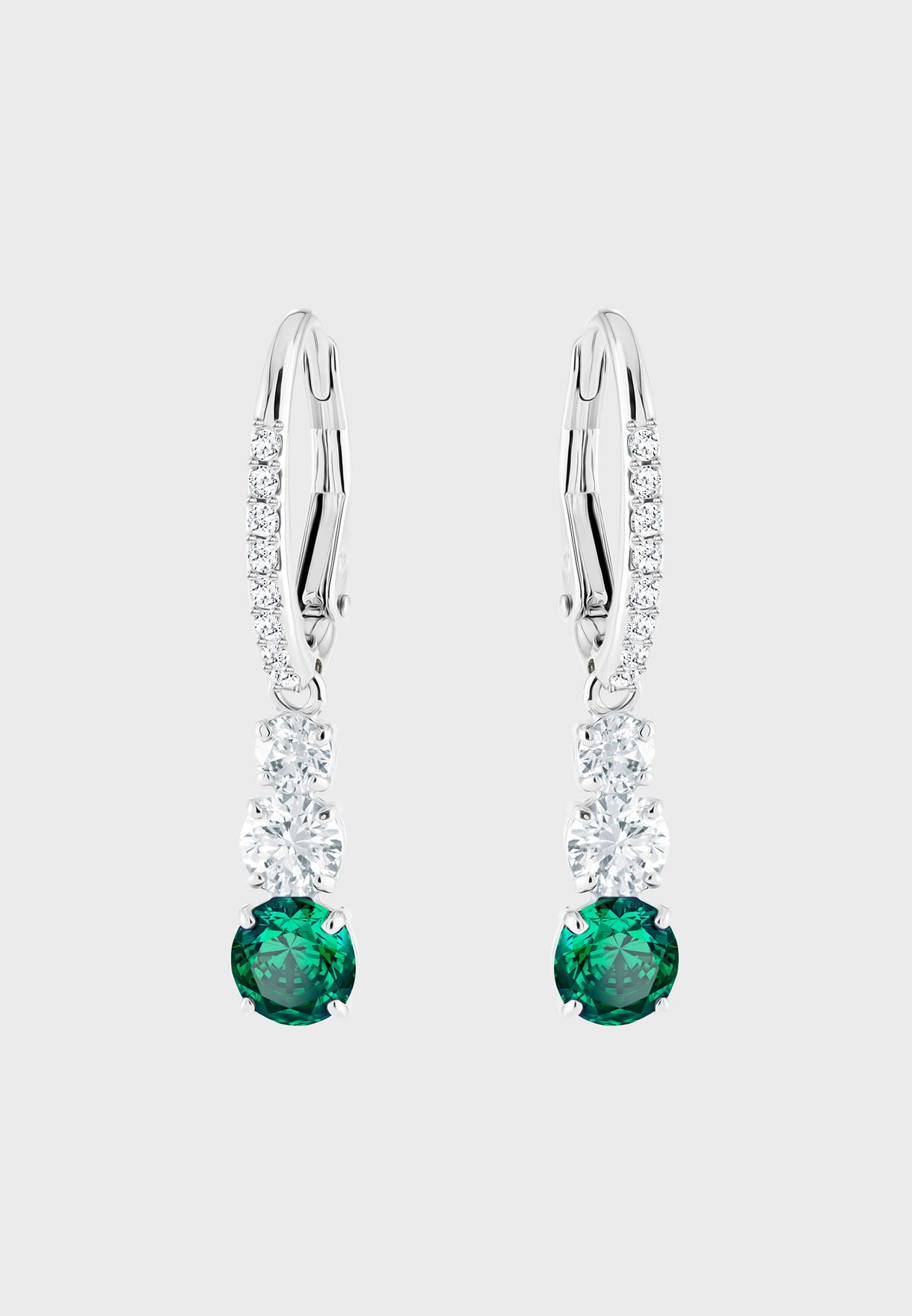 b4c20984a Shop Swarovski silver Attract Trilogy Round Pierced Drop Earrings 5414682  for Women in UAE - SW493AC48UXJ