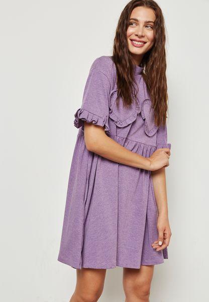 Ruffle Heart Detail Dress